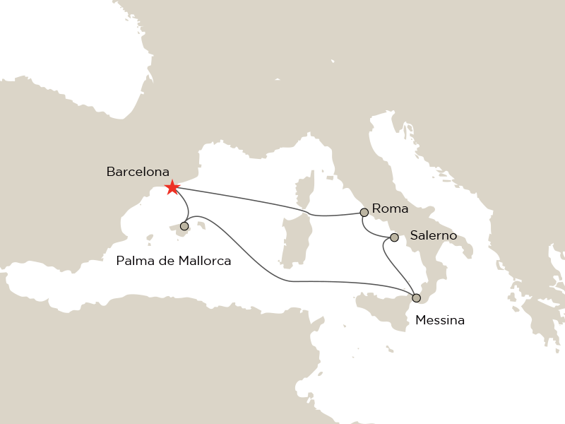 Cunard en Mediterráneo